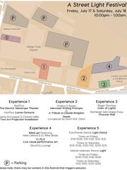 Map of events in Village Gate Square
