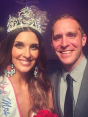 Melissa Brenny and her husband Michael Brenny. Melissa was crowned Mrs. Minnesota on Saturday in Bloomington.