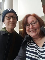 Tim Avery's mother, Corrine Kelly Avery, takes a selfie with her son this week after another round of chemo.
