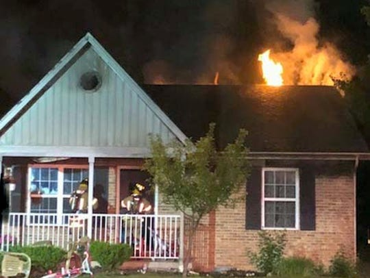 Lancaster firefighters responded to a fire Sunday night,