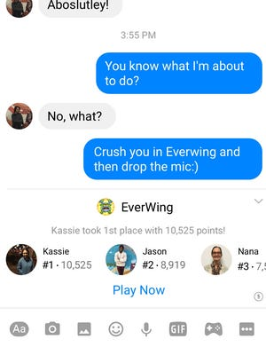 Facebook is launching games inside its popular Messenger app.