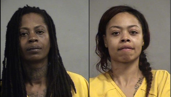 Eltaka Moore, left, and Talibra Cherry, right, were charged with an Easter Sunday morning shooting in the Algonquin neighborhood.