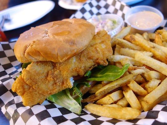 Fish sandwich at Ada's Fish Fry