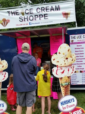 The first day of the New Castle County Ice Cream Festival was cut short Saturday by thunderstorms.