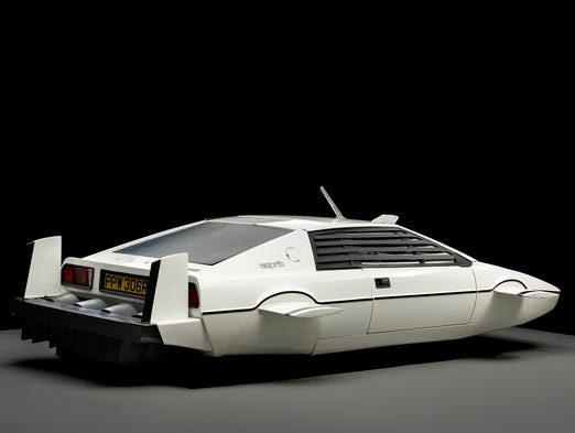 The submarine car started life as a Lotus sports car