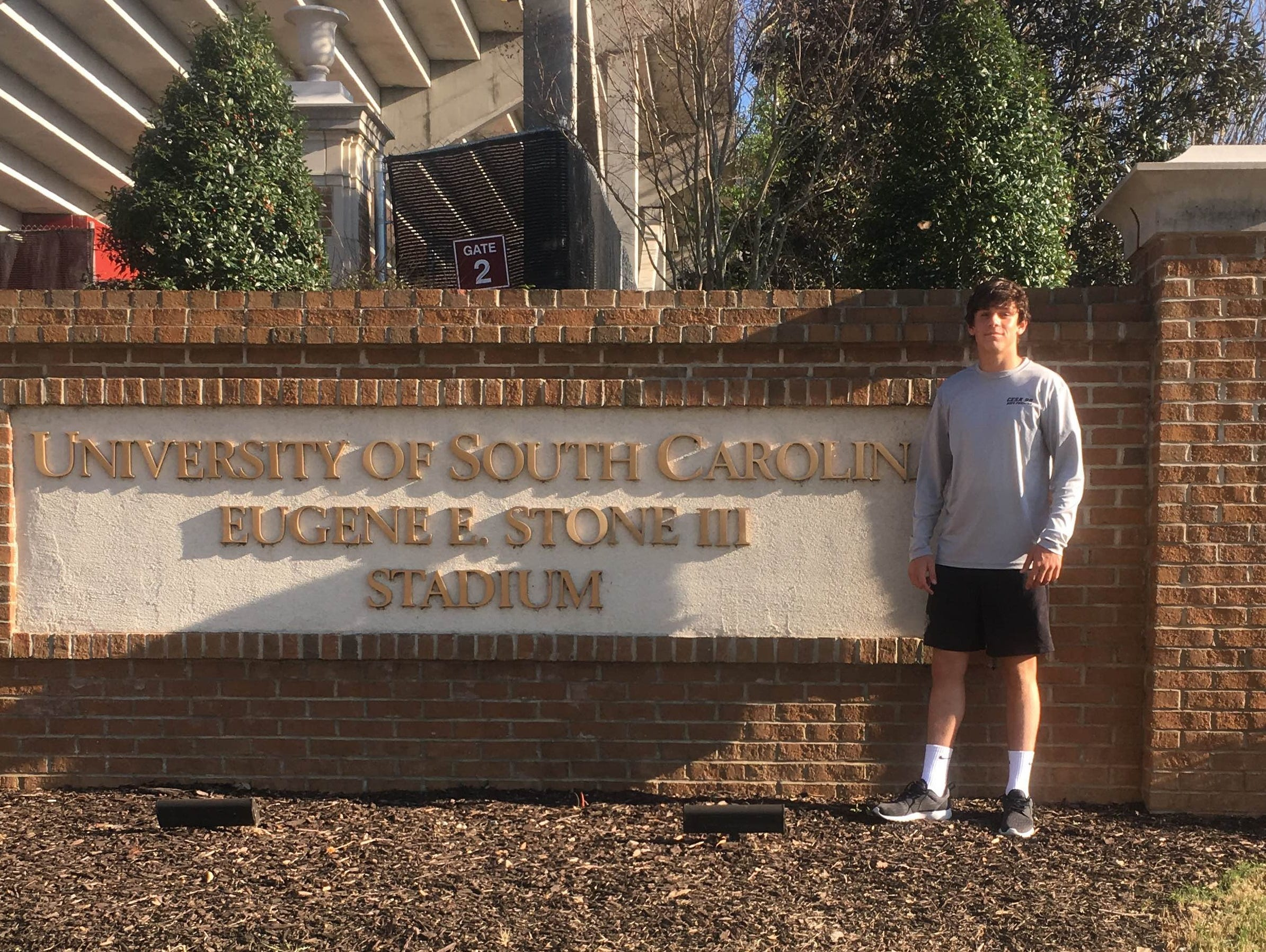 Asheville High junior Aidan O'Brien has committed to play college soccer for South Carolina.