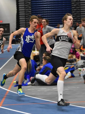 Fort Defiance's Jacob Jones didn't pass Turner Ashby's Sam Quesenberry until the very end, but Jones ended up with the win in Saturday's Valley District 500m race.