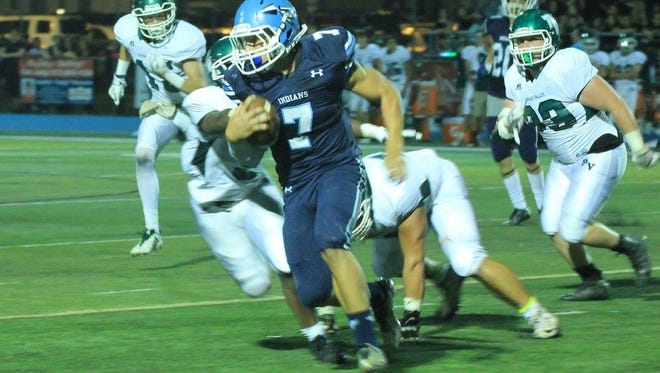 Wayne Valley quarterback Vinny Marrone was injured in the loss to Passaic Valley.