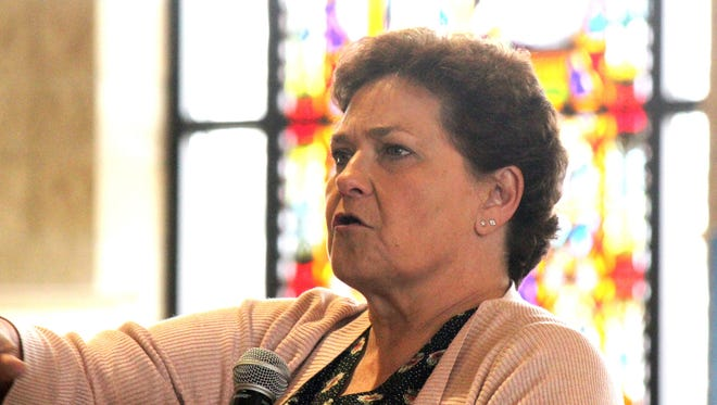 Pam Jahnke, farm director for Wisconsin Farm Report Radio, was the guest speaker at the Rural Life Day sponsored by the Green Bay Catholic diocese.