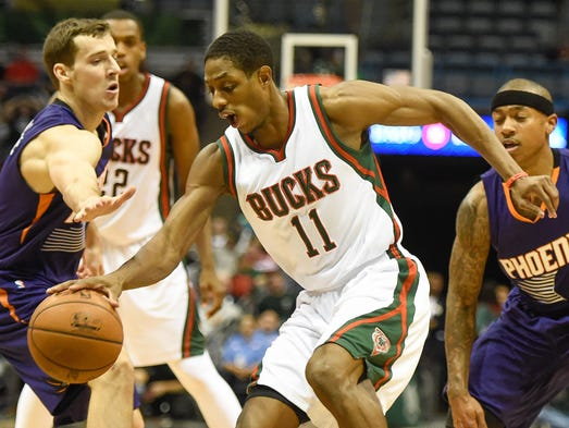 Brandon Knight (center), Goran Dragic (left) and Isaiah