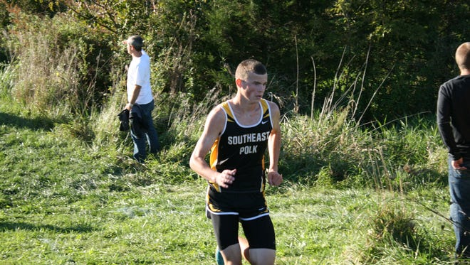 Dalton Lehman took third to lead the Rams to a victory in their home cross country meet Oct. 1.