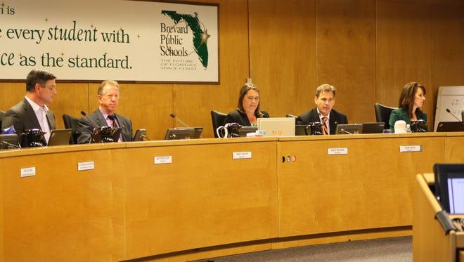 Brevard County School Board, as elected in November 2016.