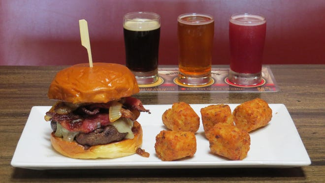 "The September R&D menu at Barrelhouse 101 in downtown Ventura will feature the Tap House Burger created in-house by kitchen manager Becky Blosser, and Tater Kegs made by Stone Gate Foods of Minnesota. ""If people like them, they go on the regular menu,"" Blosser says of the research-and-development items."