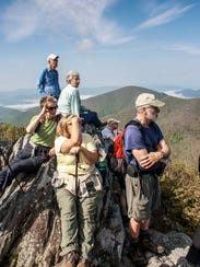 An image of a Swannanoa Valley Rim hike, sponsored