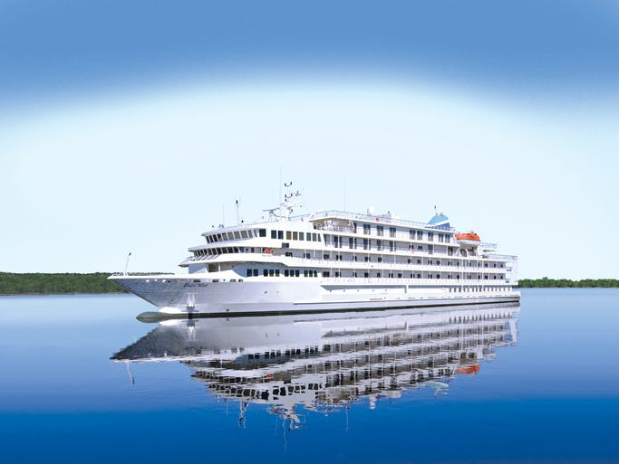 An artist's drawing of the 210-passenger Pearl Mist, which is scheduled to debut in June 2014.