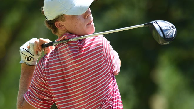 Harry Reynolds, shown during the 2016 Blade Junior Golf Classic, and the Christ Church Cavaliers are No. 1 in Class AA/A in the first S.C. H.S. Golf Coaches Association poll of the season.