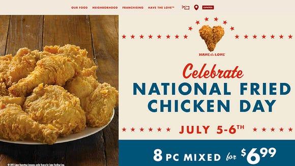 Church's Chicken special