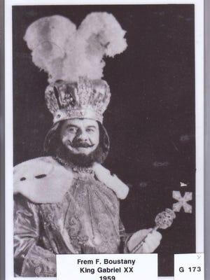 King Gabe-Frem  In 1959, Frem F. Boustany was King Gabriel XX.