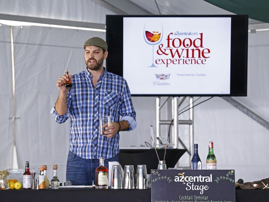 Brandon Casey presented a cocktail seminar at the 2015 azcentral.com Food & Wine Experience in Scottsdale.