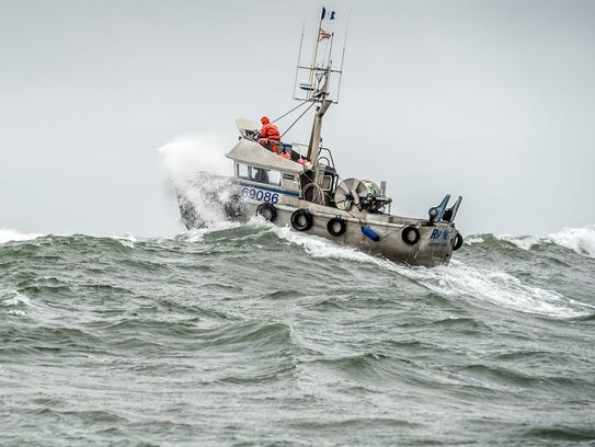 Heavy seas in the Ugashik District, Bristol Bay, Alaska.