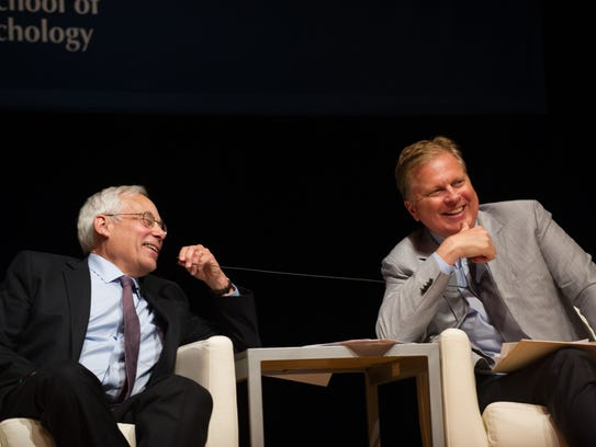 NPR's Tom Ashbrook with Democratic gubernatorial hopeful