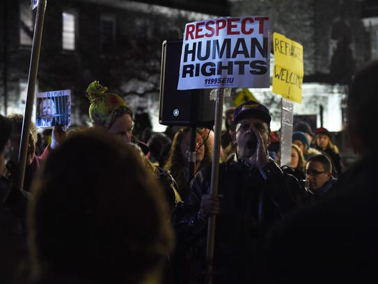 Scenes from the Mid-Hudson Solidarity March, staged