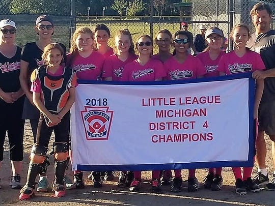 The Lady Bombers from the South Farmington Little League qualified for their second straight softball state tournament.
