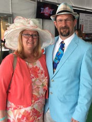 Peggy and Jeff Stecaley of Hebron attend their first Spiral Stakes.