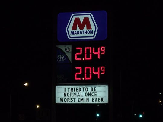 Marathon Gas on Crooks and Mayberry in Royal Oak, showing