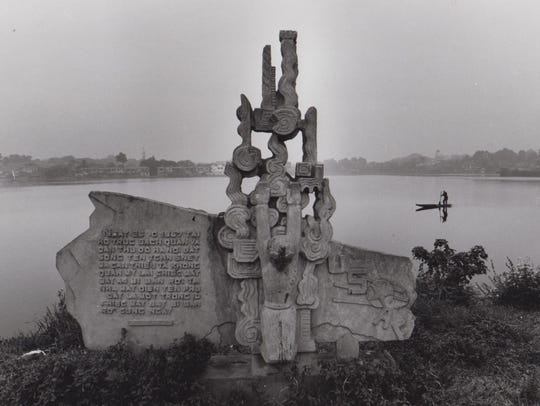 A monument was built related to Navy Lt. Cmdr. John