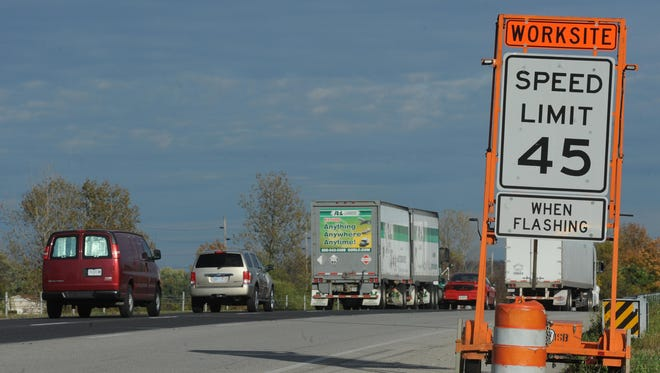 Road construction on Interstate 70 in Wayne County is expected to stretch through September.