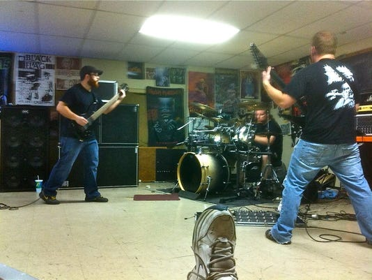 Coffin Crusher practicing