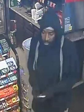 Video surveillance captured this image of the suspected robber of the Smart Fill on Davis Highway.