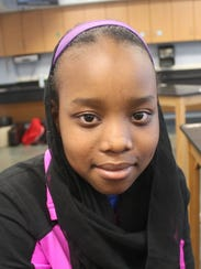 Riem Hassan, 13, hopes to collect food donations for