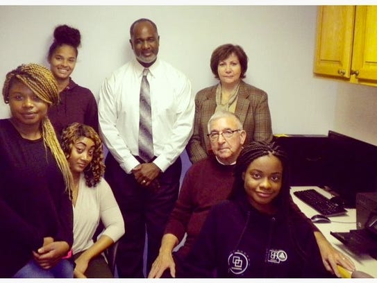 (Left to right ) Janayah Chavers, V&P Life Skills counselor;