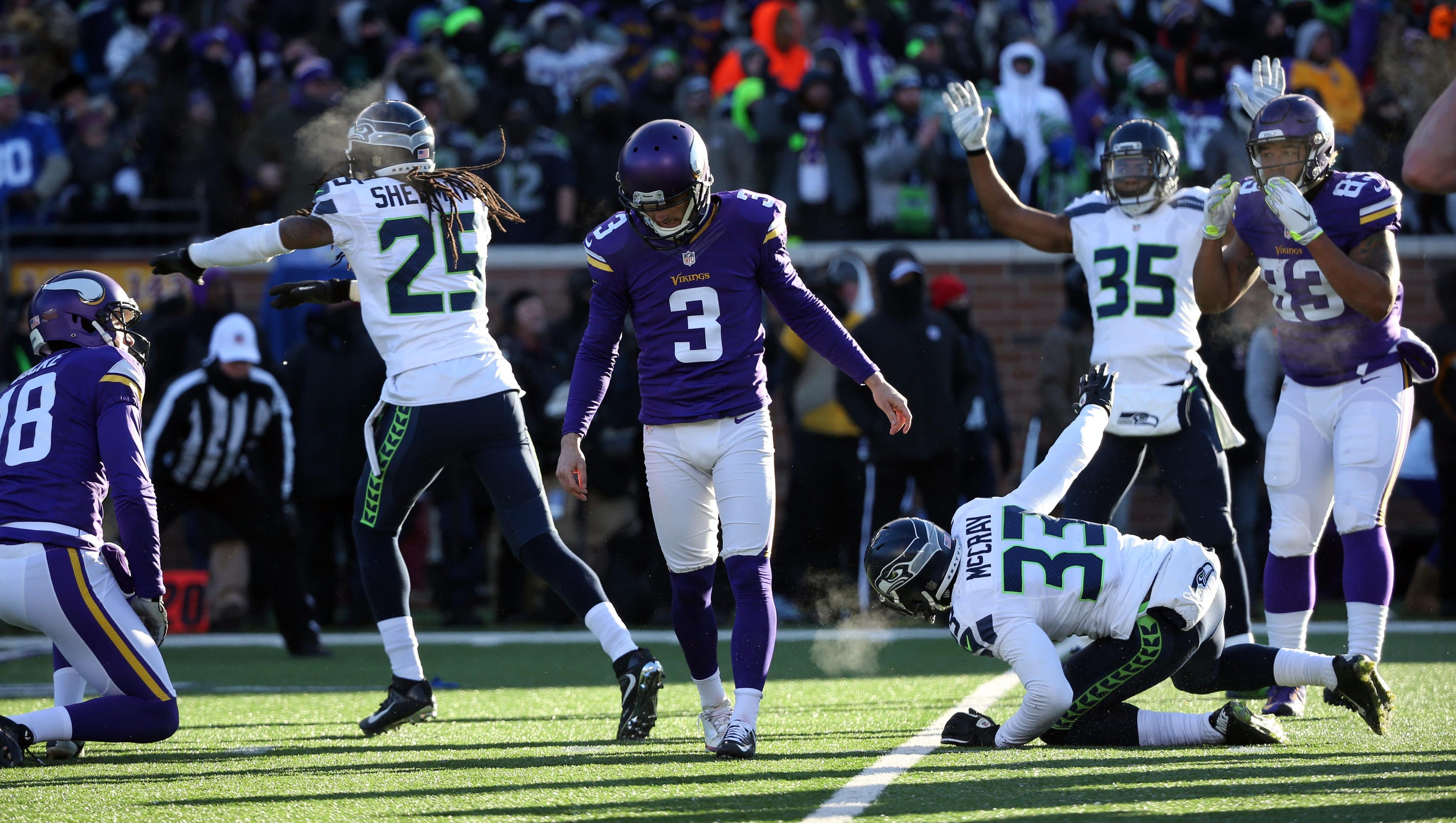 Seattle Blair Walsh >> Tearful Blair Walsh on missed kick: 'I didn't come through for' Vikings