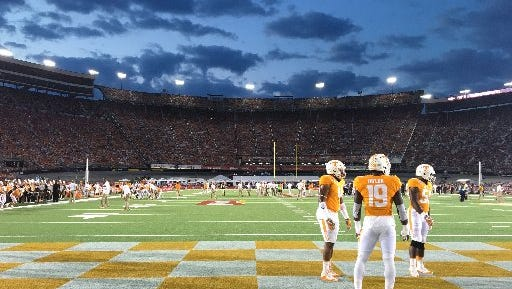 Tennessee's 2016 game against Virginia Tech at Bristol Motor Speedway in Bristol, Tenn., drew a crowd of 156,990.