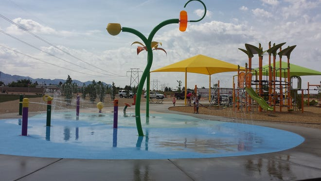 The Metro Verde splash pad is open for summer fun.