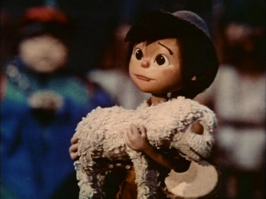 "A scene from ""The Little Drummer Boy,"" the 1968 animated TV special."