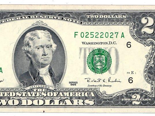XXX AXX TWO DOLLAR BILL