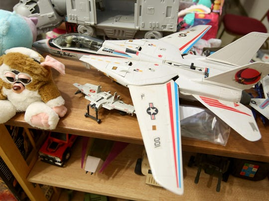 A G.I. Joe Skystriker from the 1980s on sale at the Willamette Valley Collector's Market on Sunday in Salem.