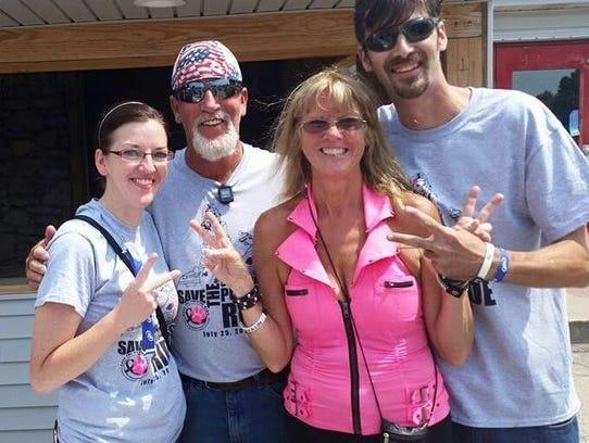 (Left to right) MeLinda Spradlin, Jim Dingus, Janine