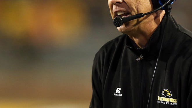 Coach Todd Monken and the Southern Miss Golden Eagles host Old Dominion on Saturday.