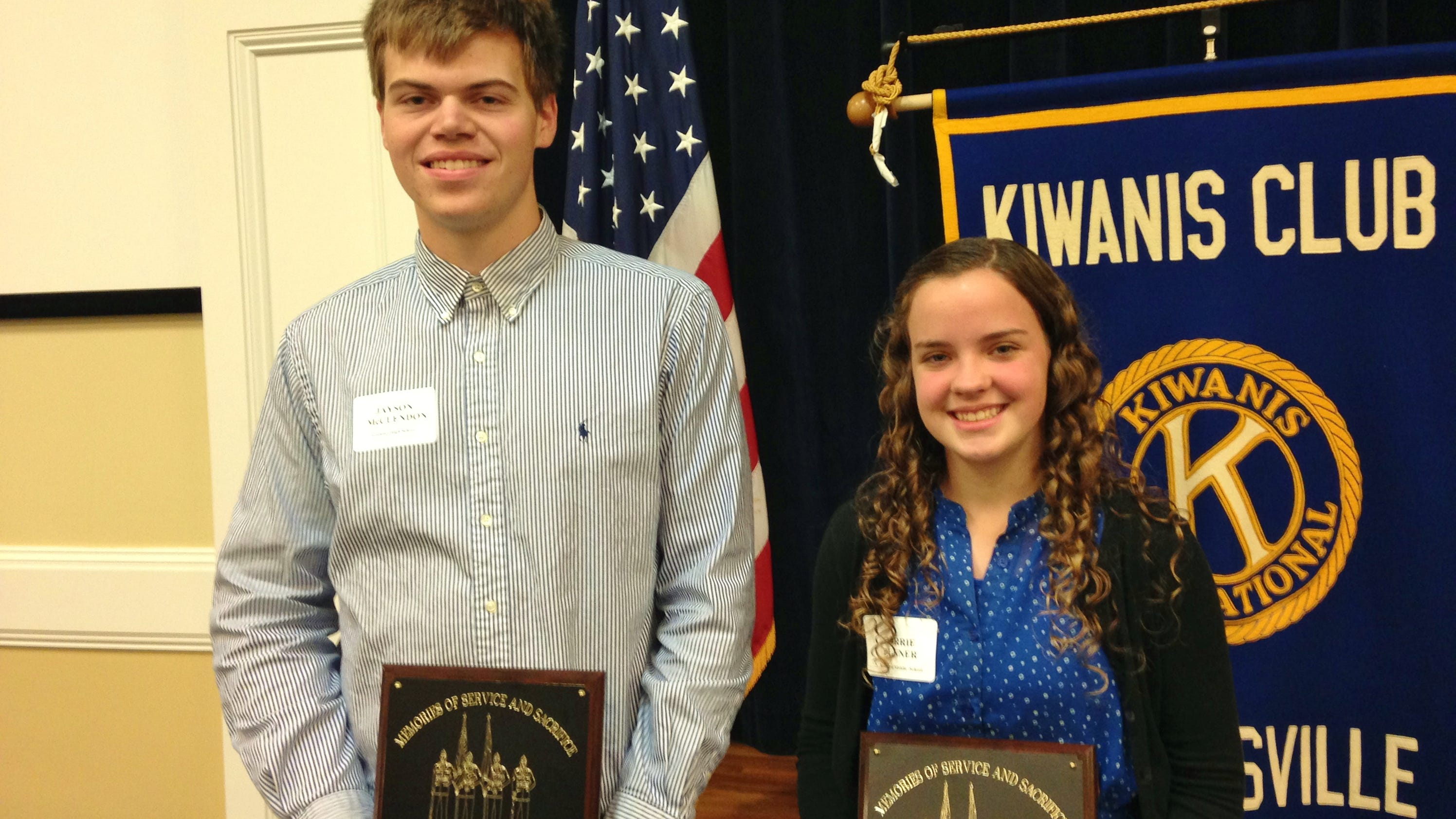 kiwanis honors interview a veteran essay winners