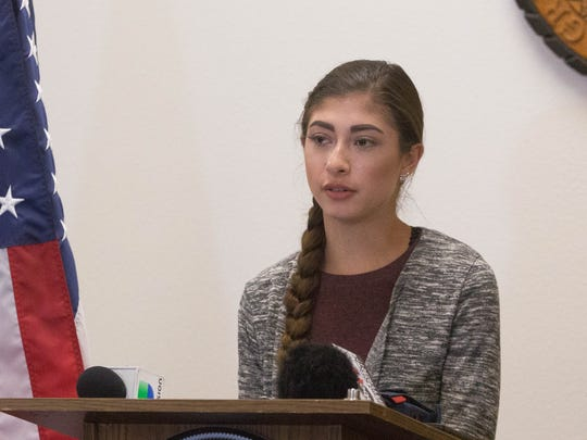 Lena Sanchez, a New Mexico State University student,