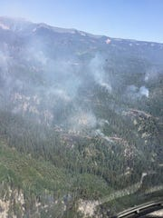 Fire activity on the 416 Fire was reduced, as seen
