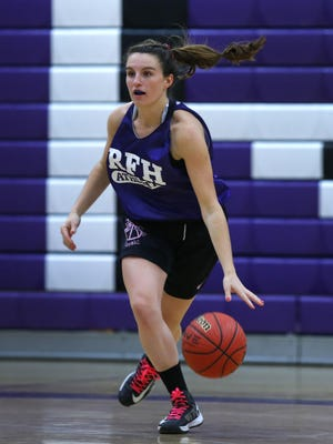 Rumon-Fair Haven girls basketball player Madison Maguire during practice at Rumson- Fair High School. Wednesday, December 9, 2015. Rumson,NJ. Noah K. Murray-Special for the Asbury Park PressASB 1216 girls hoops preview