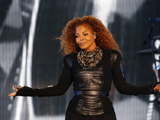 Janet Jackson performs at the BMO Harris Bradley Center Sunday.