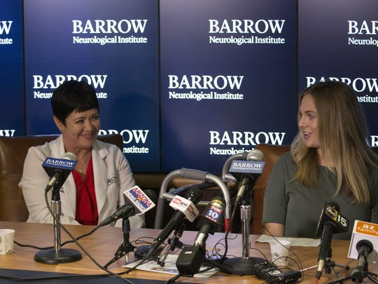 Kara Dunn (right) talks about Guillain-Barre Syndrome