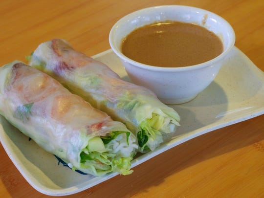 Vietnamese spring rolls are available at Super Pho on Lancaster Drive NE.